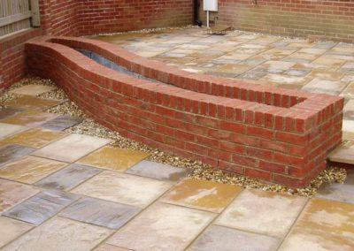 brick on edge finish