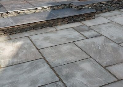 modern low maintenance garden with natural materials used including limestone sandstone & slate 1