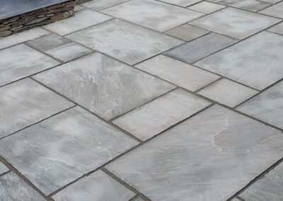 modern low maintenance garden with natural materials used including limestone sandstone & slate 4